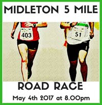 Big 5 mile race in East Cork...Thurs 4th May 2017