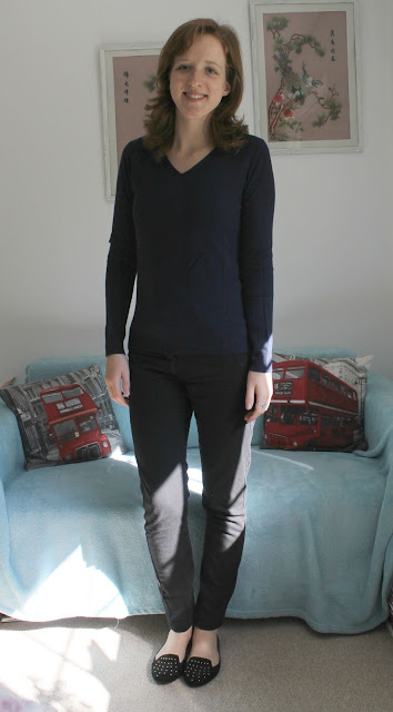 Primark Autumn Winter Haul Navy V Neck Jumper 2015