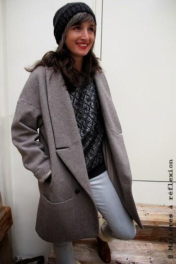 look du jour : manteau femme, sweat eple & melk, bonnet charlotte sometime ...