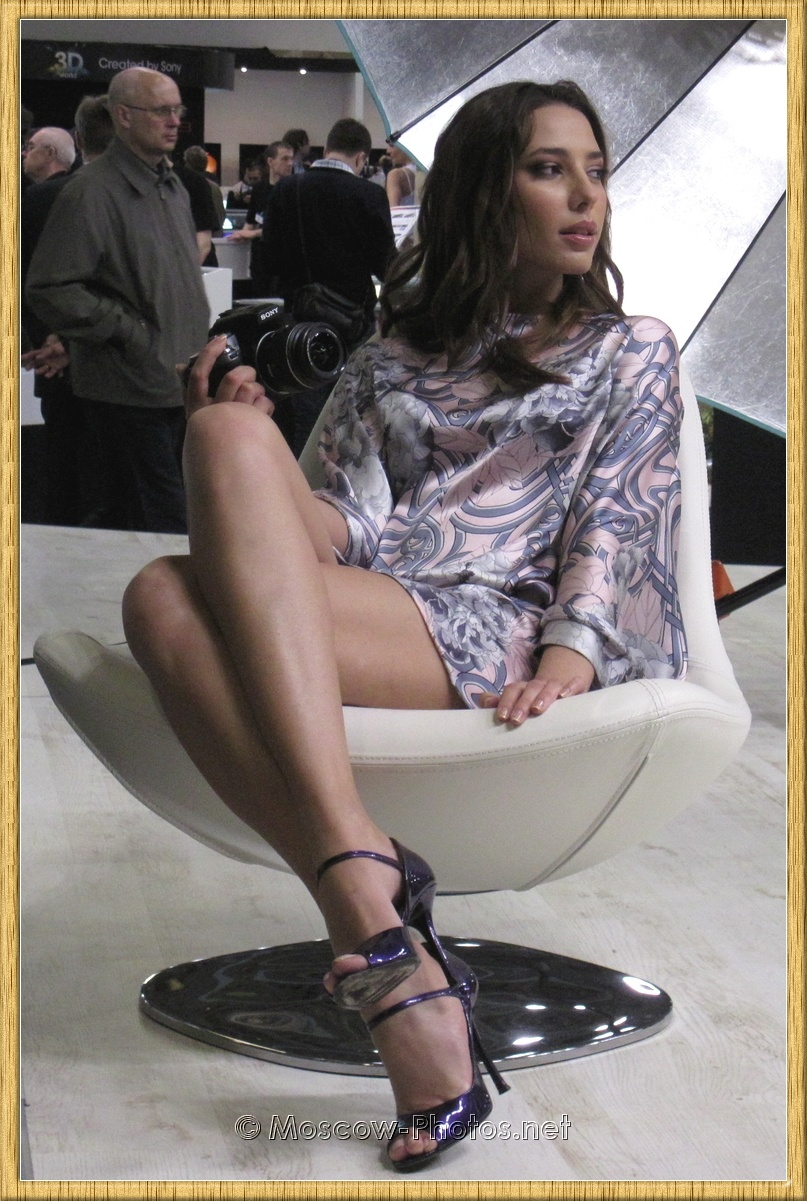 Long Legs Moscow Beautiful Model at Photoforum 2010