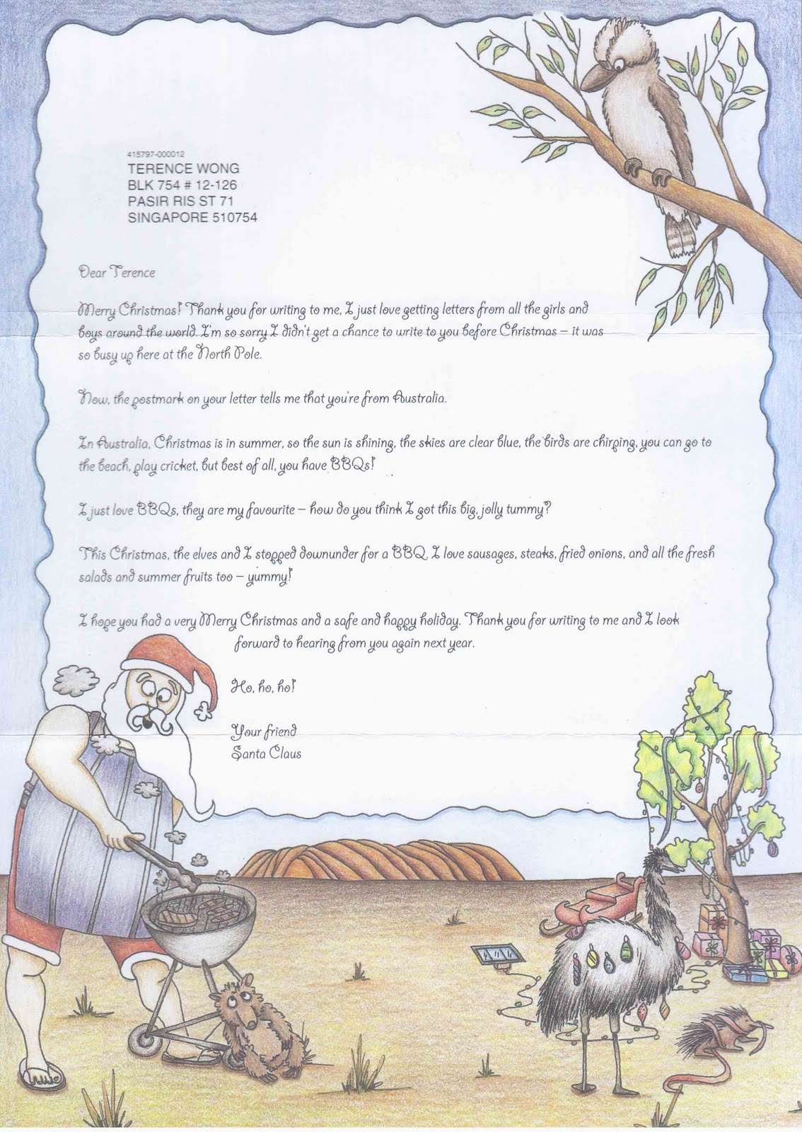 Terences collections letter from the santa claus north pole letter from the santa claus north pole 9999 spiritdancerdesigns