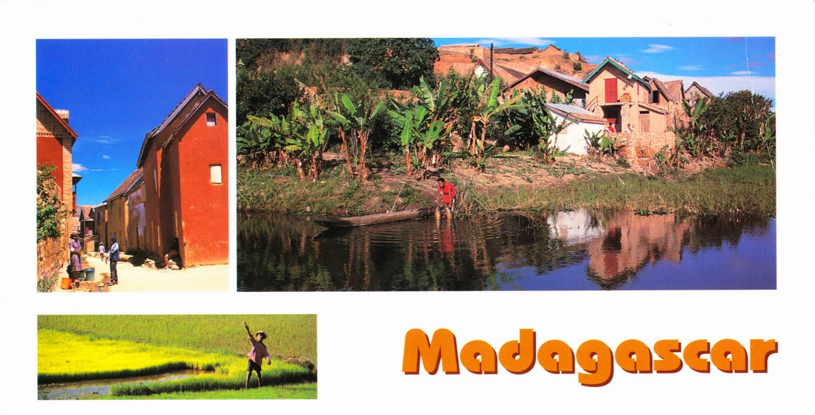 postcard, madagascar, république
