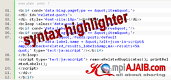 Membuat Syntax Highlighter Dengan Tombol Print Dan View Plain