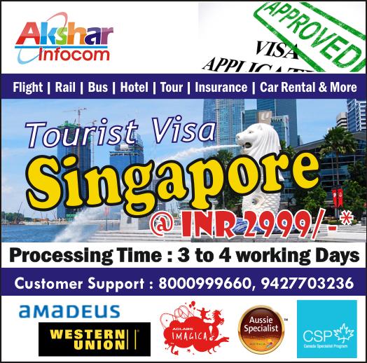 Singapore Visitor Visa - Akshar Infocom 8000999660, 079-27665284