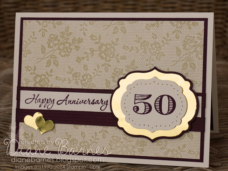 stampin up 50th anniversary cards