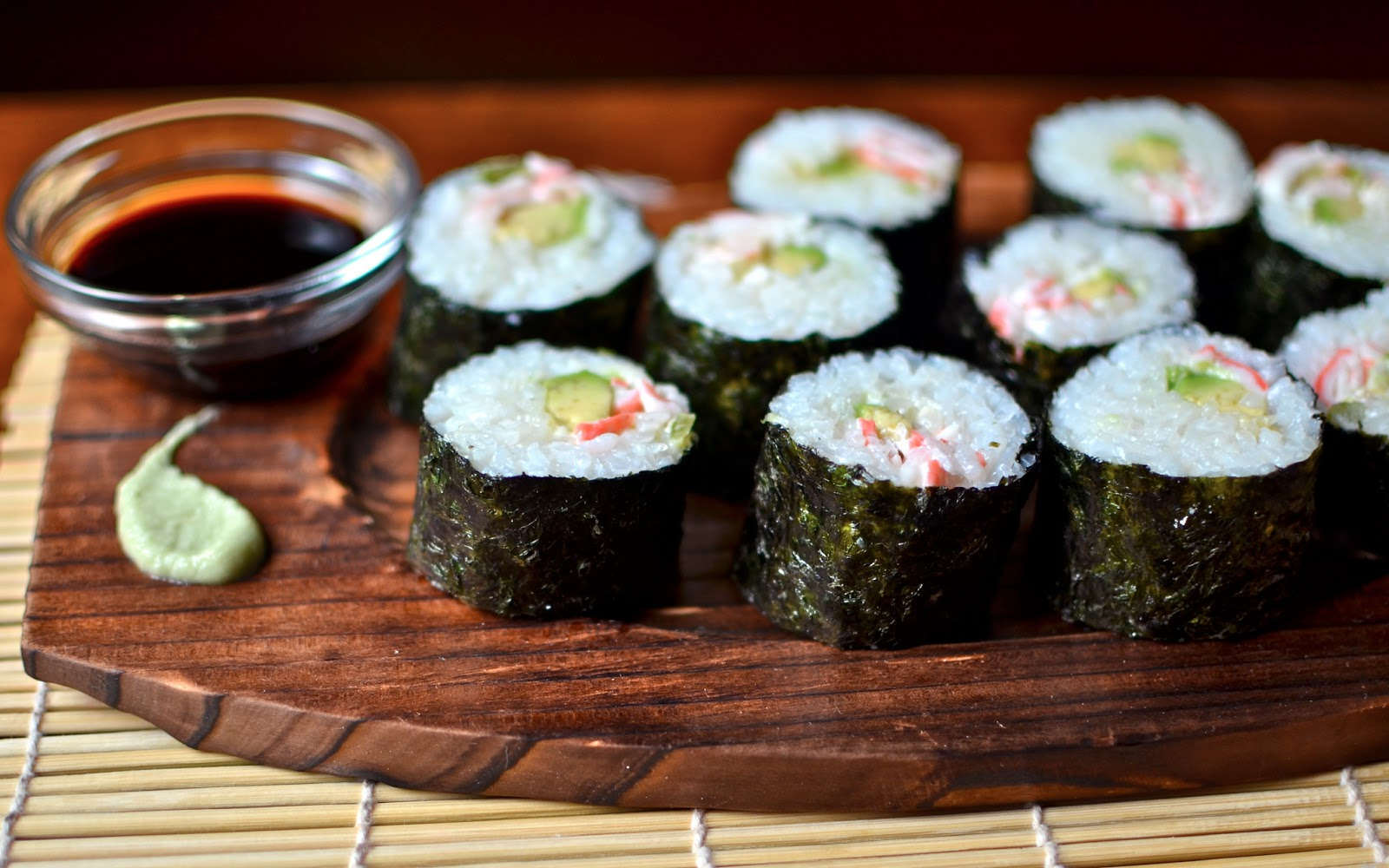 Yammie 39 s noshery homemade sushi the california roll no for Best fish for sushi
