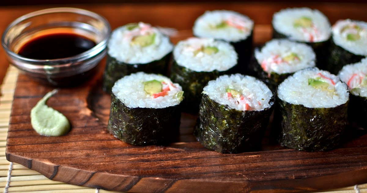 Recipe index yammie 39 s noshery homemade sushi the for Is sushi raw fish