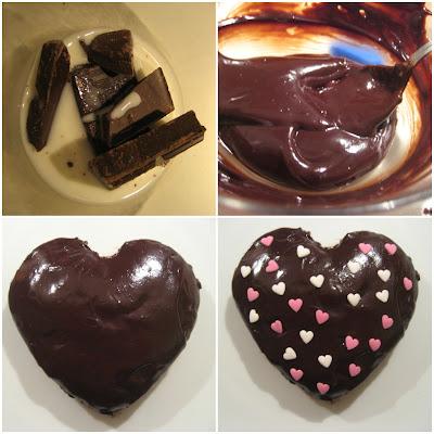 tortino al cioccolato a forma di cuore...per un romanticissimo s.valentino!