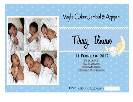 Wishing favours aqiqah favors for baby firas ilman thanks to her mommysiti aisyahe ordered the invitation cardsgoodies bagspersonalised mineralpersonalised choc bar surahyaasin and personalised stopboris Gallery