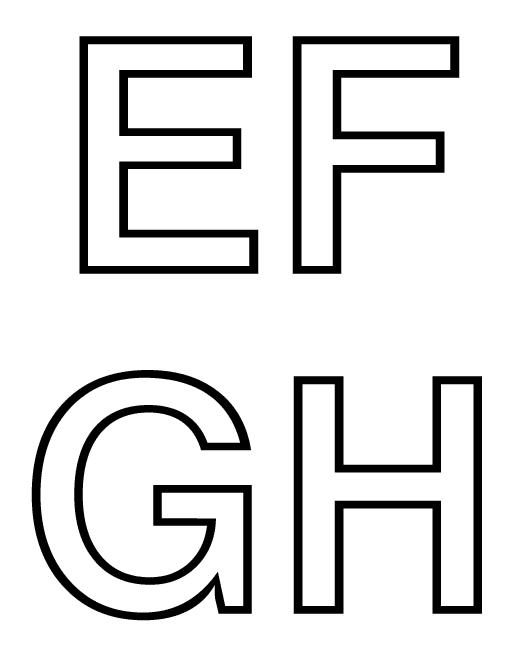 Diferentes tipos de moldes de letras - Imagui