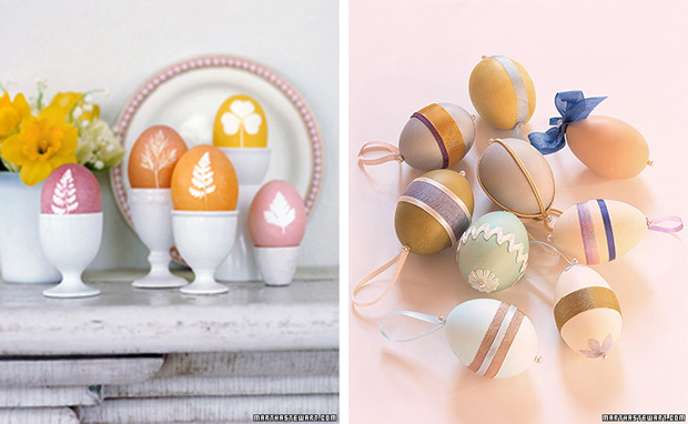 huevos de Pascua decorados Martha Stewart. Easter decorated eggs