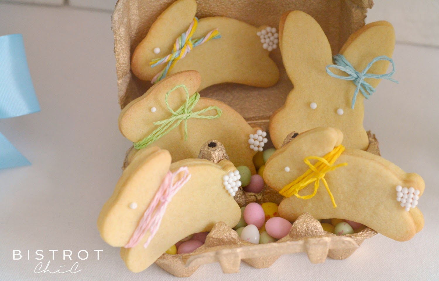 Easter Party bunny cookies by BistrotChic