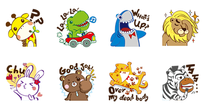 Puzzle Folks Zoo line stickers
