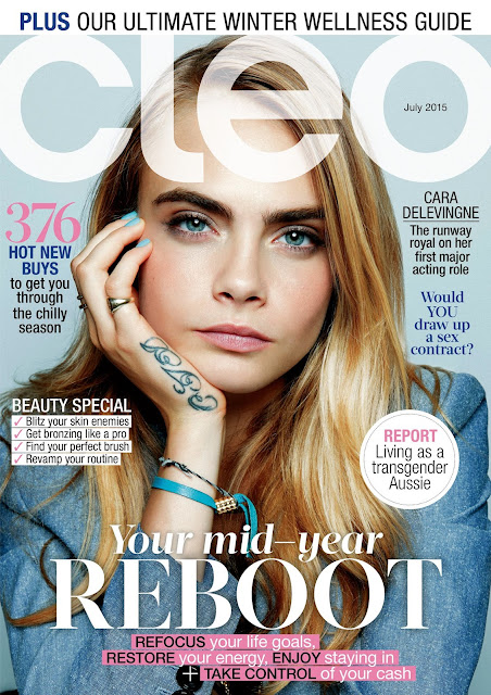 Model, Actress, Singer @ Cara Delevingne by Yu Tsai for Cleo  Australia, July, 2015