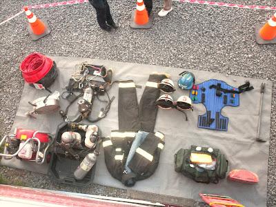 Exhibición de material de bomberos Tecnópolis