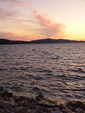 sunset in Trogir, Croatia