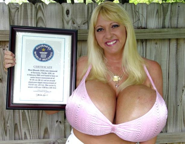 Guinness world records biggest boobs