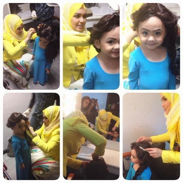 Bila Dato Siti Nurhaliza dandan anak Siti Saerah 5 Foto gambar