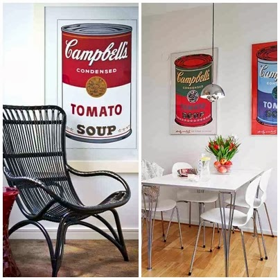 Campbell's Soup pop-art we wnętrzach