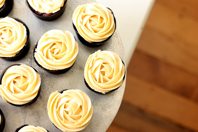 ... nuts over chocolate peanut butter cupcakes with caramel peanut glaze
