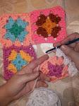 PAP Como unir grannys a crochet.