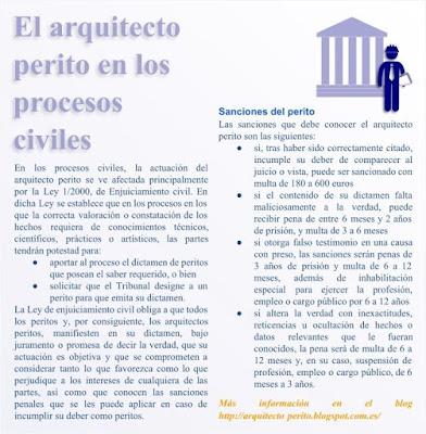Arquitecto perito y enjuiciamiento civil