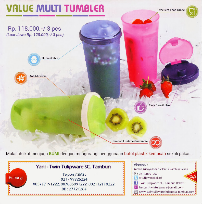 Value Multi Tumbler Tulipware Edisi Baru 2014