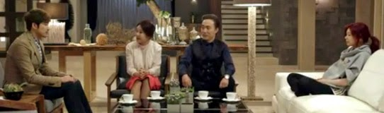 Ji Hyuk visits his new family, Cha Hwa Yun 차화연 as Choi Yoon Jung, Sung Wook, and Jung So Min 정소민 as Kang Jin Ah.