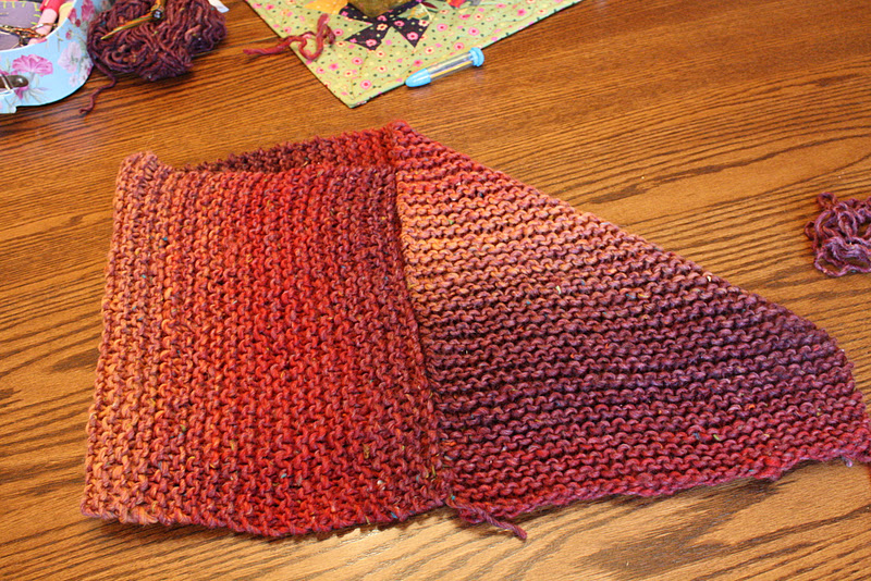 Knitting Poncho With Two Rectangles : My barefoot farm hand made holidays easy knitted poncho