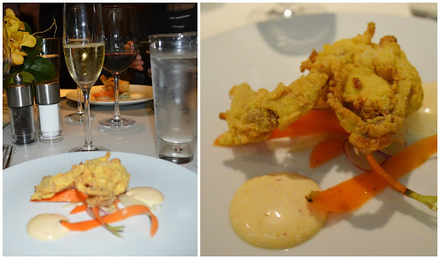 Crispy Soft Shell Crab at the Mediterraneo Restaurant