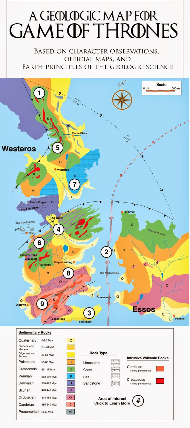 La ciencia de la vida la geologa de juego de tronos mapa geolgico de poniente con todo lujo de detalles urtaz Choice Image