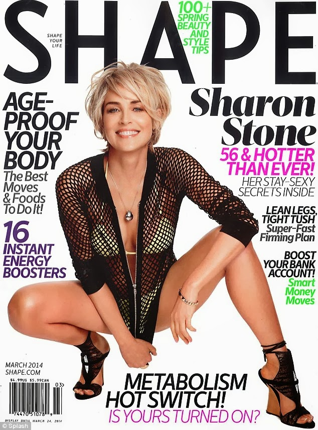Sharon Stone Photos from Shape Denmark Magazine Cover Spring/Summer 2014 HQ Scans