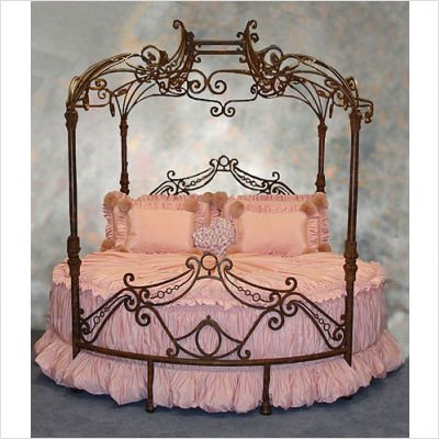 CAMA REDONDA CON GLAMOUR via www.dormitorios.blogspot.com