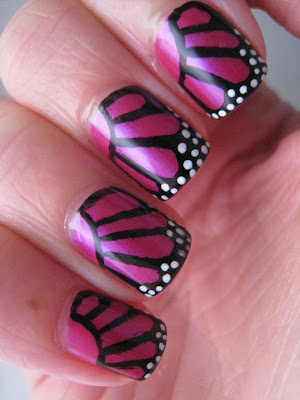 Butterfly-nail-art-Pink-Fever-Models-Own