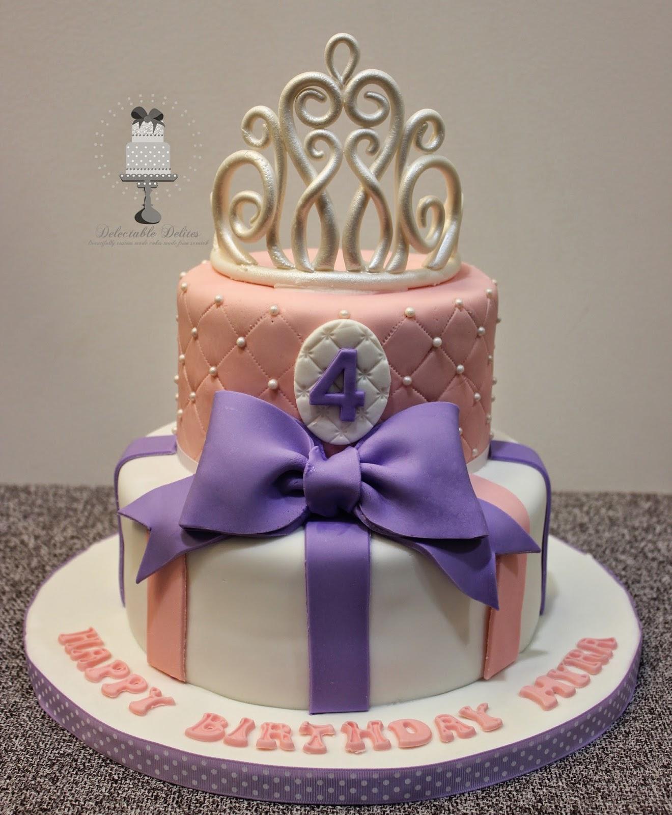 Delectable Delites Princess Tiara Cake For Myras 4th Birthday