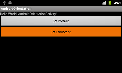 Set Screen in Landscape programmatically