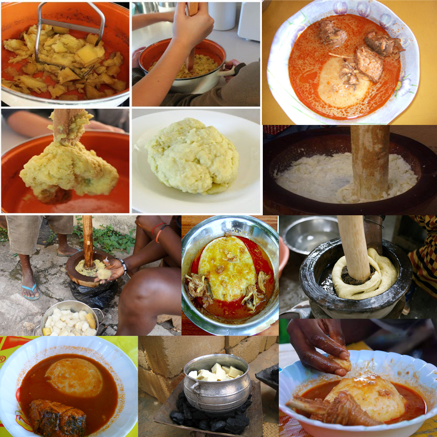 All african dishes ghana recipes yam fufu with fresh for Authentic african cuisine from ghana