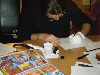 Federico Toffano disegna Capitan Venezia - 28 novembre 2011 Feltrinelli Mestre