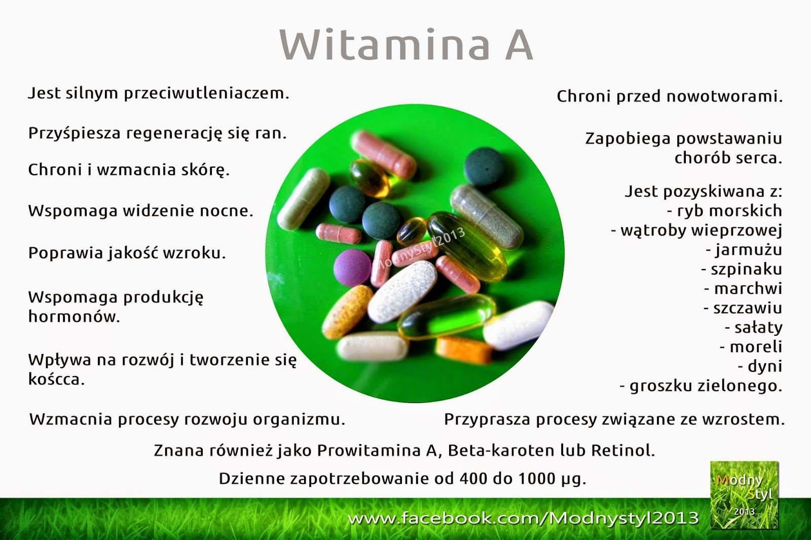Witamina A, beta-karoten lub retinol