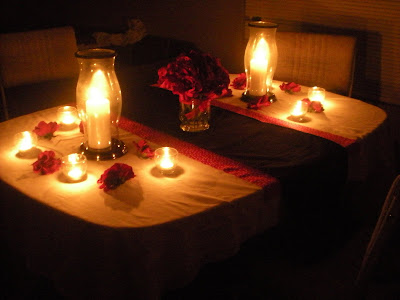 Ever so blessed romantic dinner for two for Romantic meal ideas at home