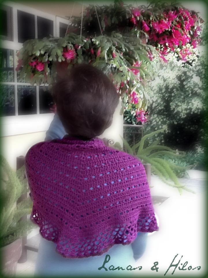 Eva s Shawl Free Crochet Pattern : Lanas Hilos: SHAWL EVA