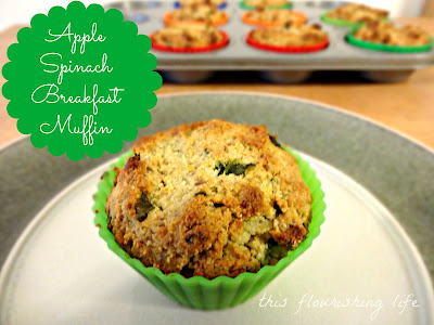 Paleo Apple Spinach Breakfast Muffins