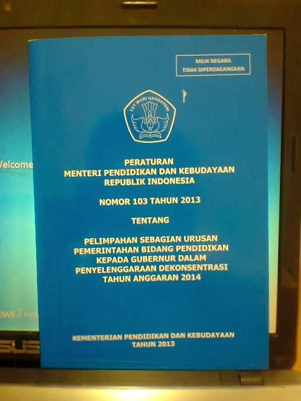 PPeraturan Menteri Pendidikan dan Kebudayaan Nomor 103 Tahun 2013