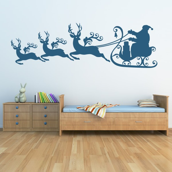 Vinyl stickers wall art decal deco decoration car for Christmas wall mural plastic