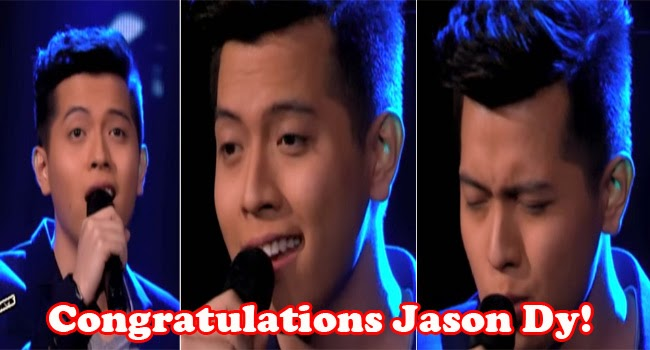 Jason James Dy is the Grand Winner of The Voice of the Philippines Season 2 March 1, 2015