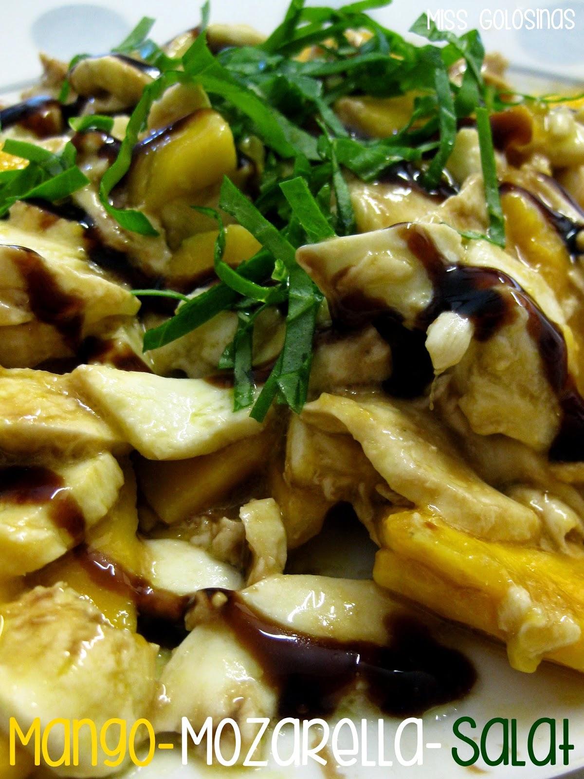 vegetarian, vegetariona, ensalada de mango y mozarella, rápido, quick dinner