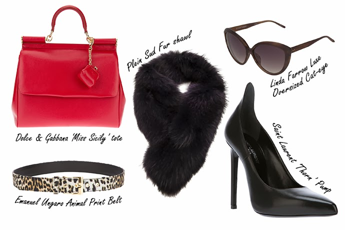 Wish list featuring designer accessories from Farfetch