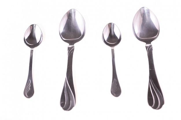 Tablas de equivalencias entre cucharitas y cucharas con for Medidas para cocinar