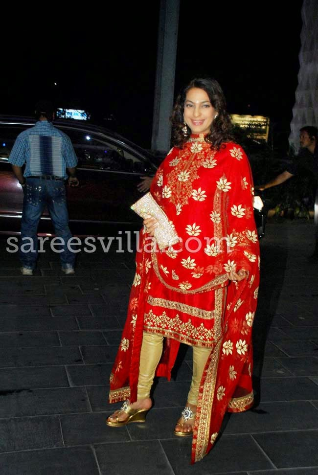 Actress Juhi Chawla At Udhay Shirin Wedding Reception