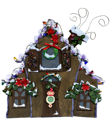 Eridoodle Free digital Download Christmas gingerbread house